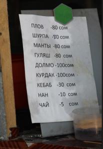 Kyrgyz menu