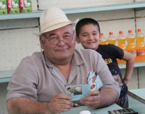 Kyrgyz shopkeeper
