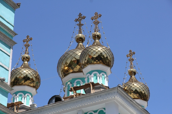 St Nicholas domes Almaty