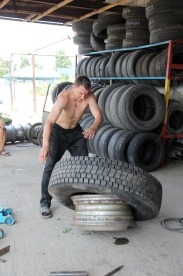 Wrestling with tyres