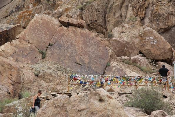 Tamgaly petroglyph Buddhas
