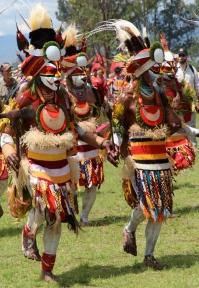 Goroka Show, dancing skirts, 2014