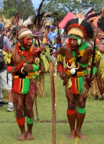 Goroka Show, dyed skirts, 2014