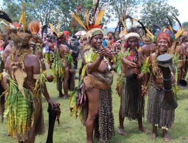 Goroka Show, cuscus skirts, 2014