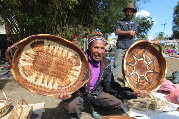Goroka Show basket seller
