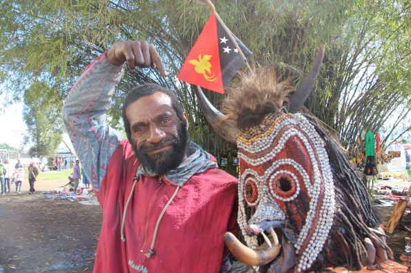 Goroka Show mask seller