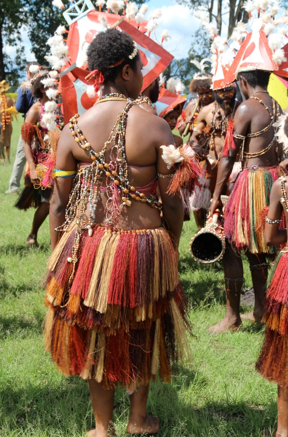 Goroka Show, colourful skirt, 2014