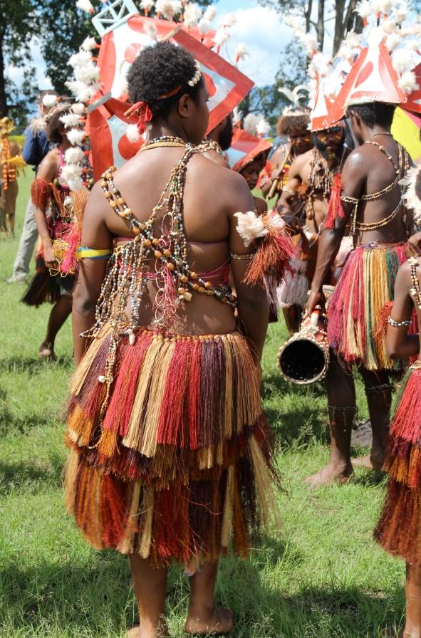 Goroka Show, colourful skirt, 2014