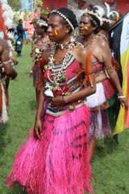 Goroka Show, pink skirt, 2014