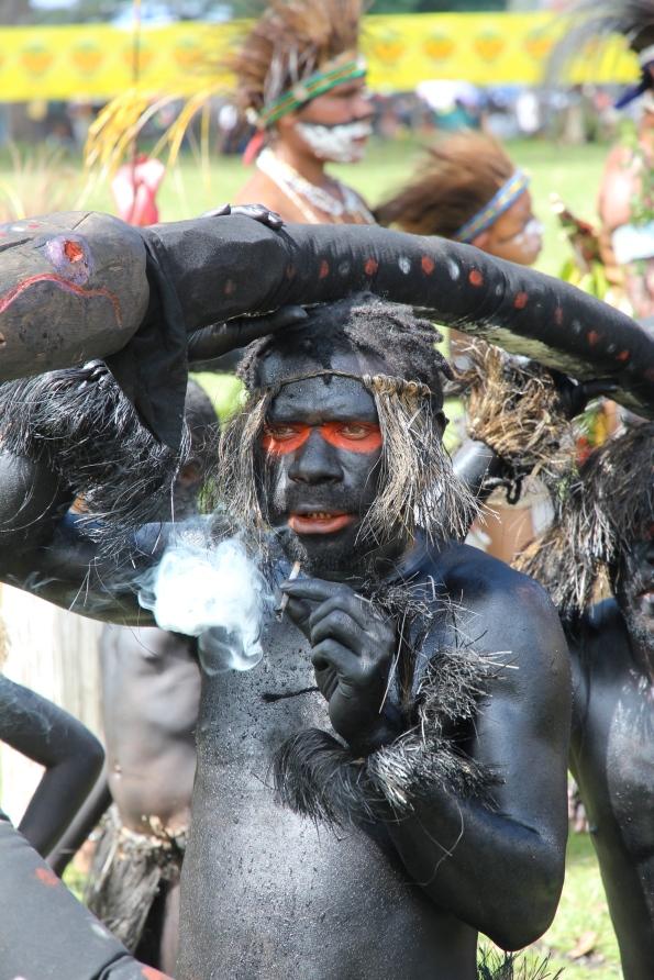Lead snake dancer, Goroka Show