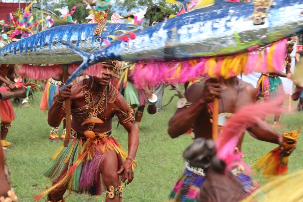 Goroka Show, fish and skirts, 2014