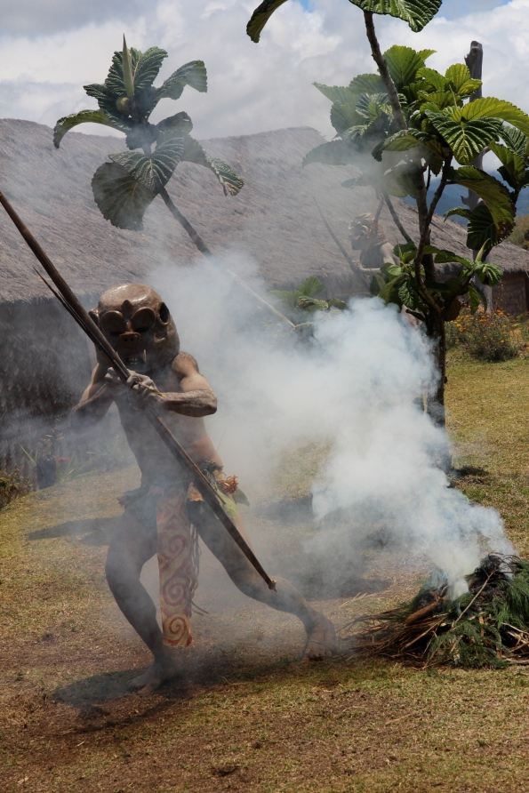 Asaro mudman in the smoke