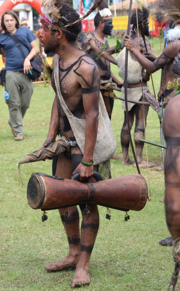PNG penis gourd man with drum
