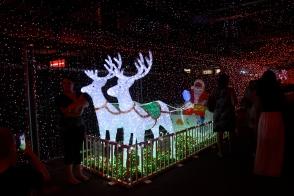 Santa at Canberra's Christmas light show