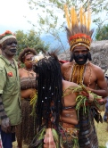 Asaro groom being dressed