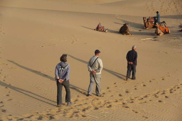 Three in desert