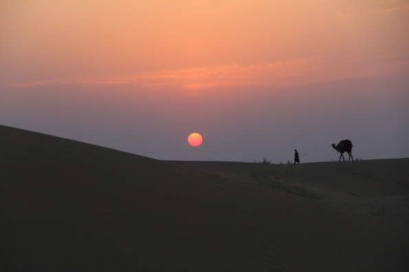 Sunset in the Thar desert, India