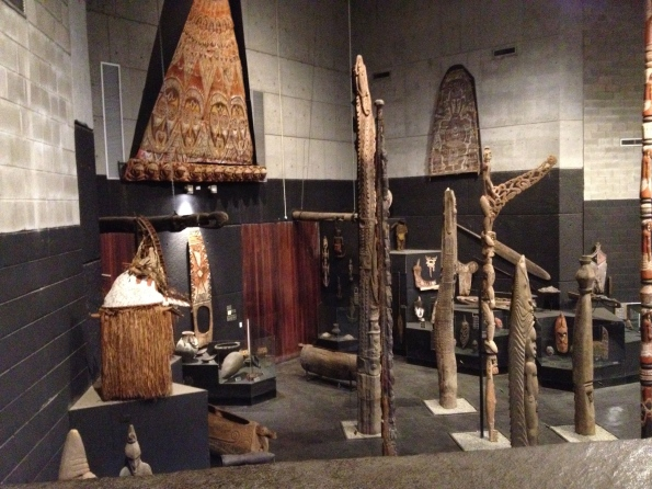 Totems in the PNG museum