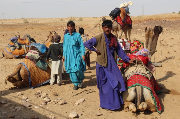 camels and guides, That Desert