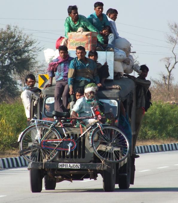 Overloaded truck, India