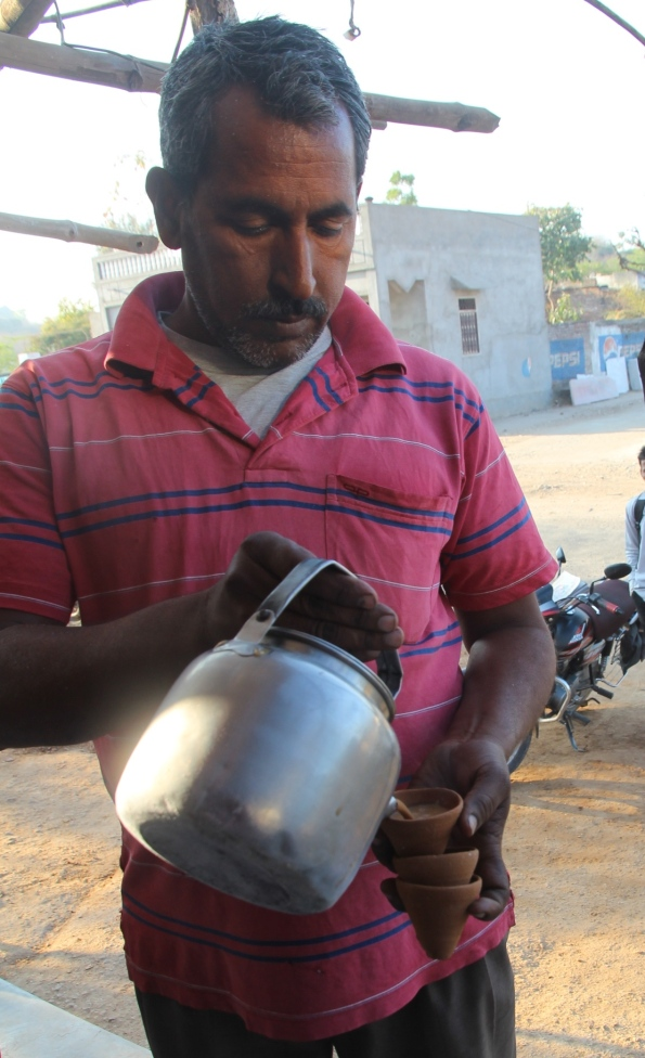 pouring chai