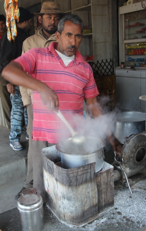 stirring chai