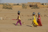 fetching water, Thar Desert