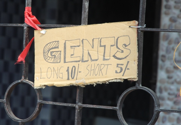 sign for gents toilet