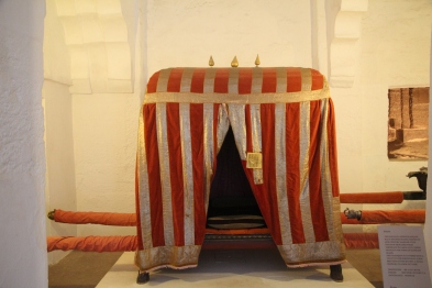 Covered palanquin