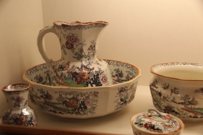 very floral washbowl set