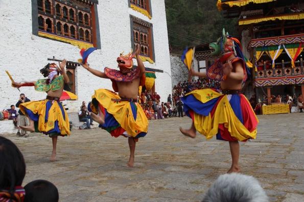 dancing at Paro Festival