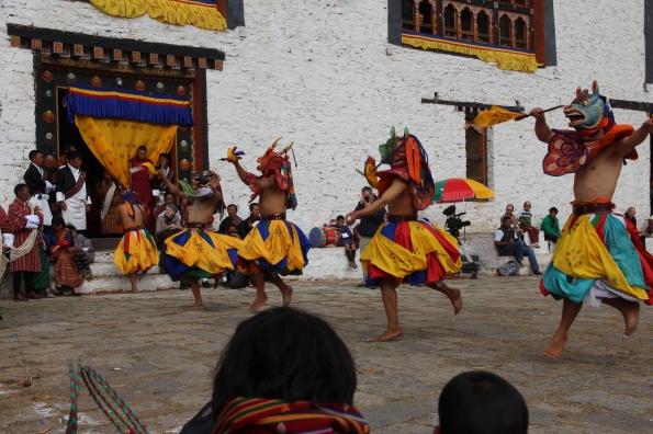 dancing at Paro Festival 2