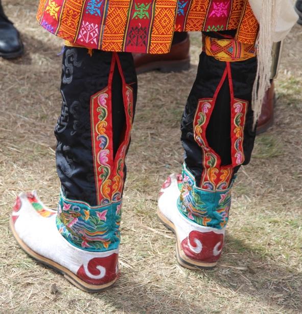 Traditional Bhutanese boot, tshoglham