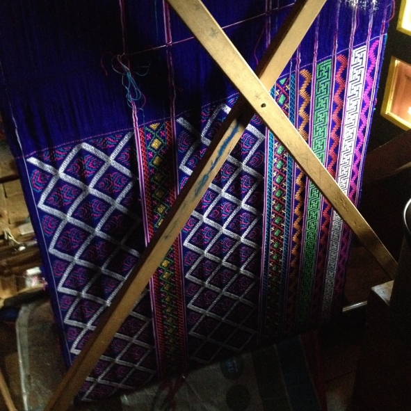 Back of Bhutanese loom