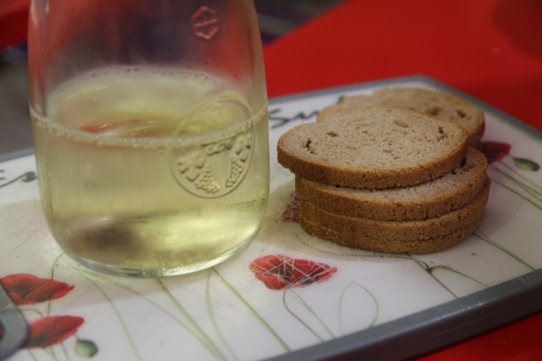 wine and toast