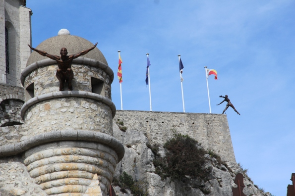 Sisteron citadel and sculptures
