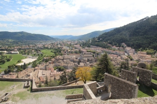 Sisteron, France view from citadel