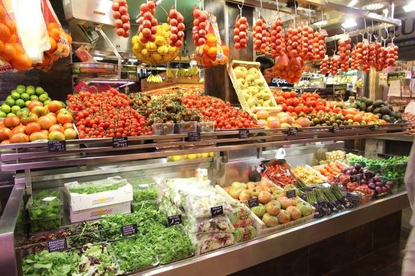 Barcelona market stall