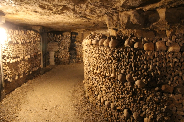 Through the Paris catacombs