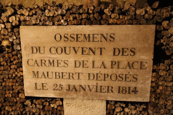 Paris catacombs record
