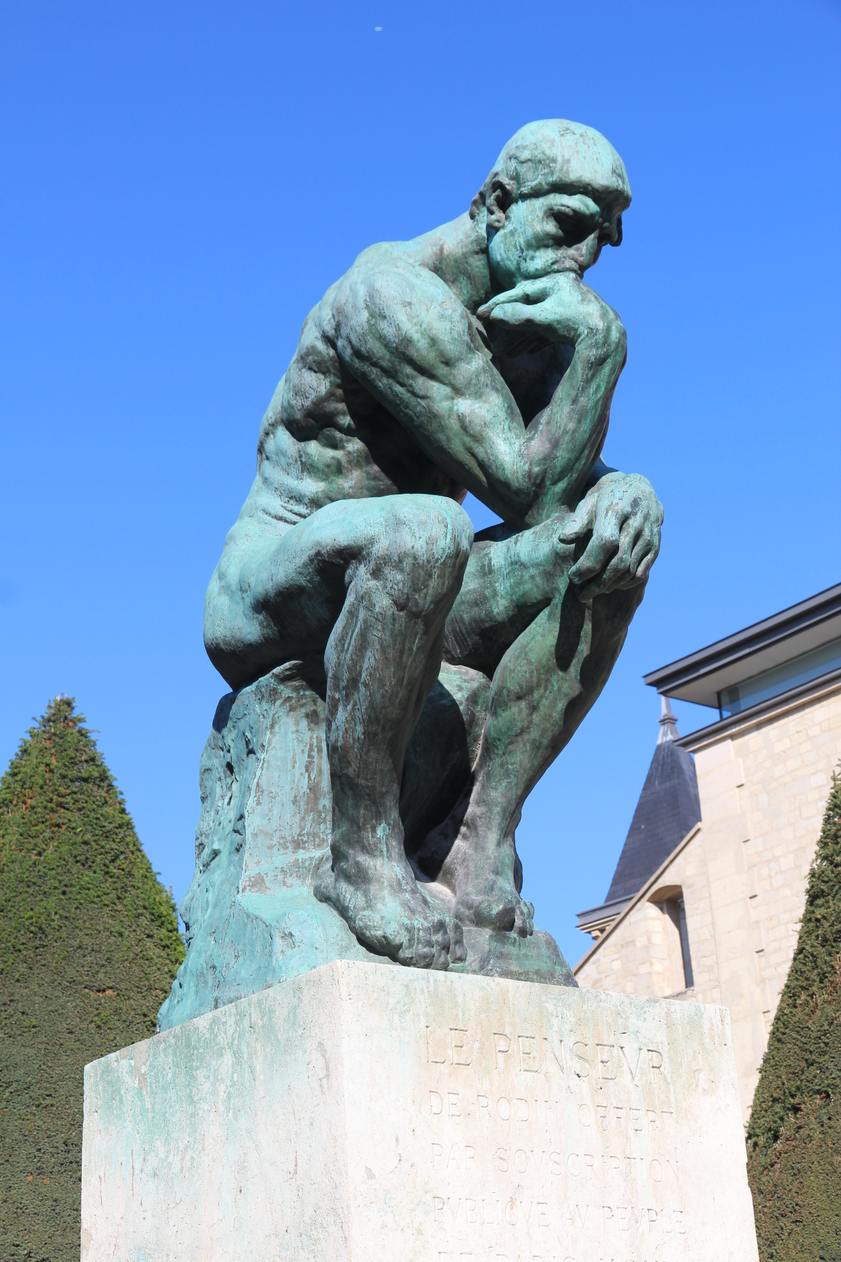Thinking about the works of sculptor, Auguste Rodin ...
