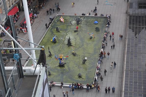Art outside George Pompidou Centre