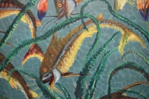 close-up of painting by Bela