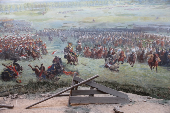 Waterloo battle scene