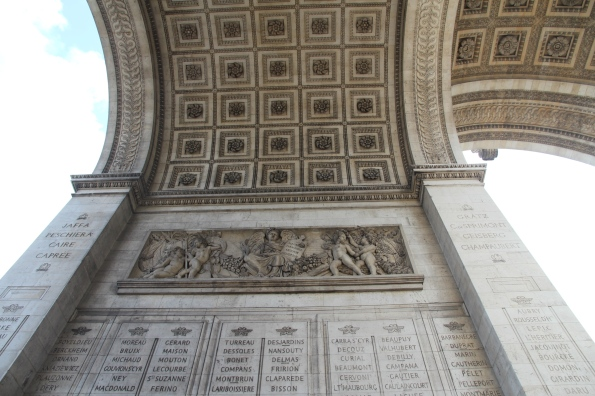 Rosettes on the ceiling of the Arc de Triomphe