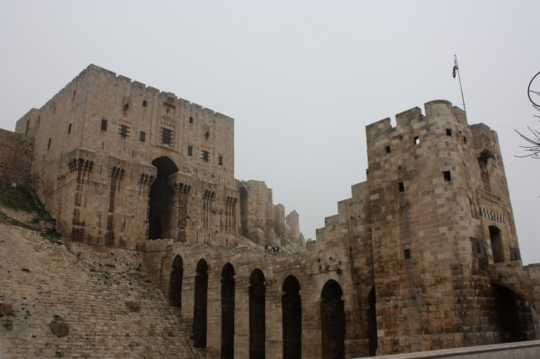 entrance to Aleppo citadel