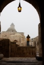 Aleppo citadel with lamp