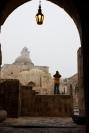 Aleppo citadel with lamp