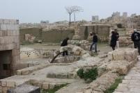 Inside Aleppo citadel