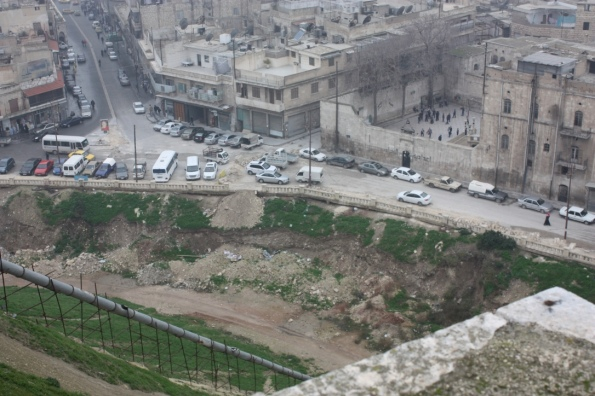 Looking down from the Aleppo citadel
